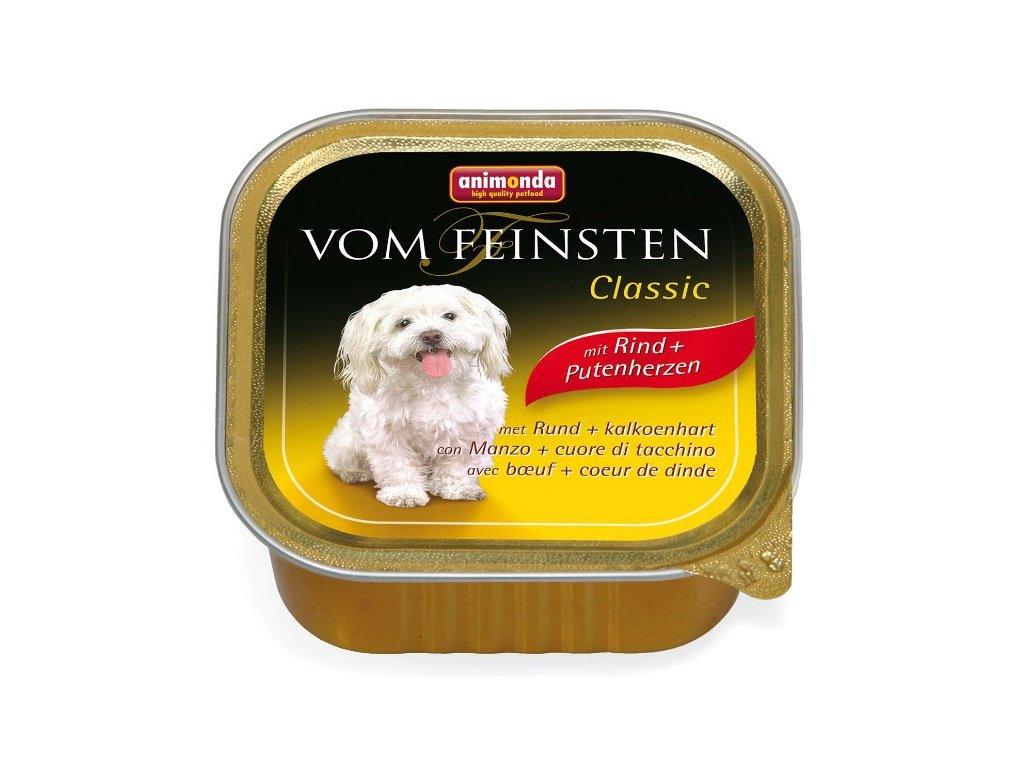Animonda Vom Feinsten Classic paštika pro psy hovězí+krůtí srdce 150g