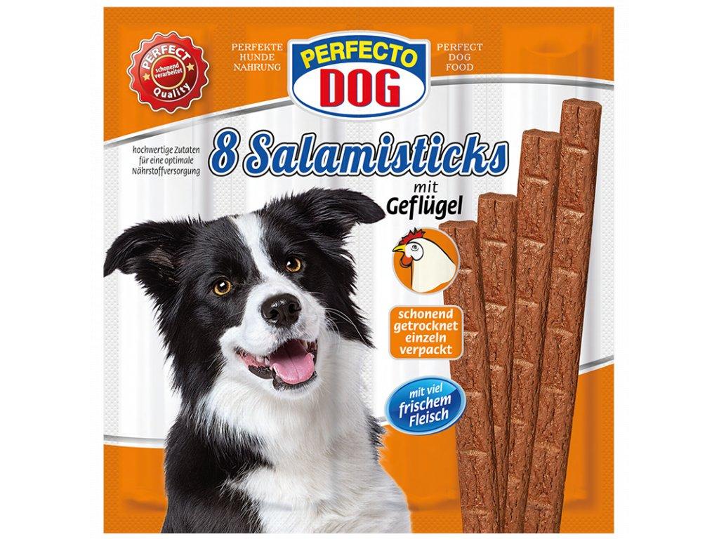Perfecto Dog 8x salámek s drůběžím masem