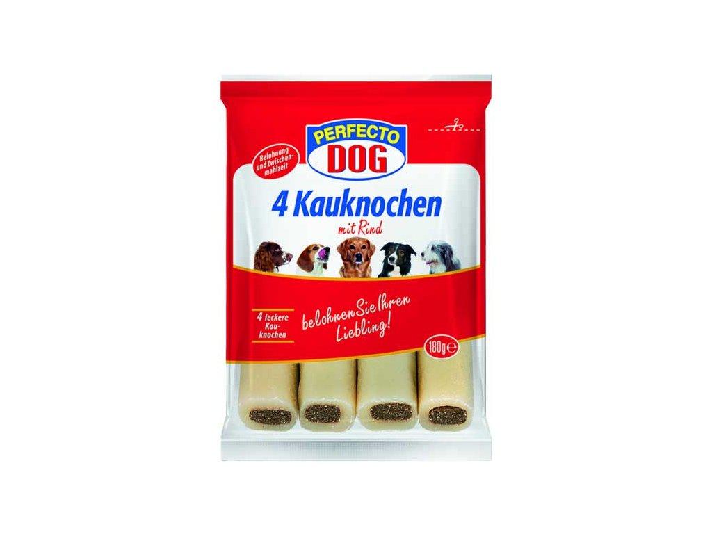 Perfecto Dog plněná žvýkací tyčinka hovězí 4ks