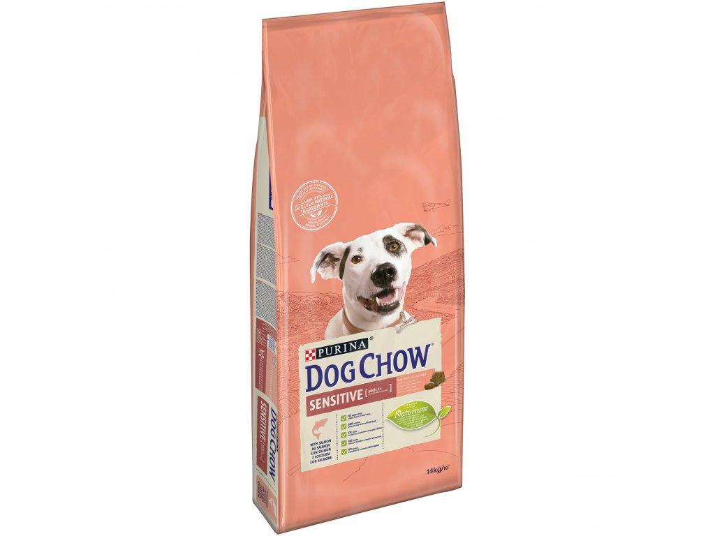 Purina Dog Chow Sensitive losos & rýže 14 kg