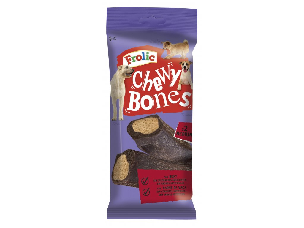 FROLIC pochoutky Chewy Bones 170g