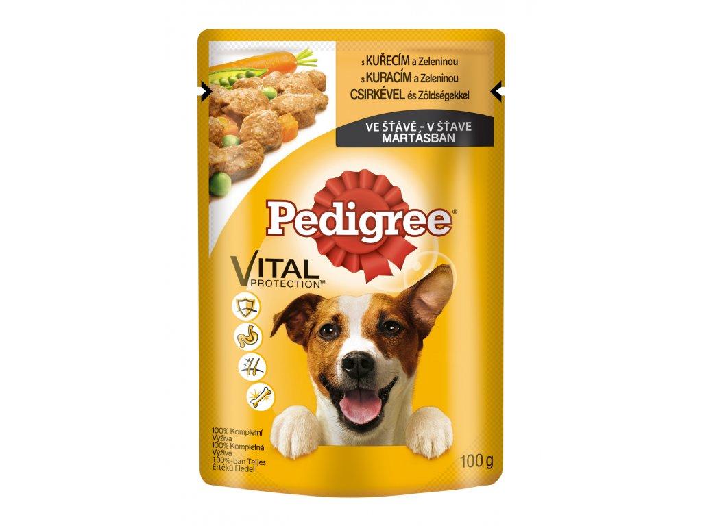 PEDIGREE kapsička ve ŠŤÁVĚ : s kuřecím a zeleninou 100g