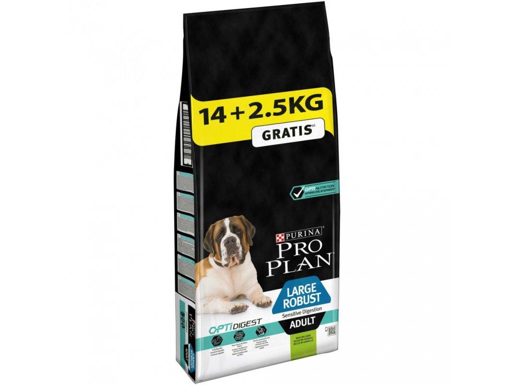 Purina Pro Plan Dog OptiDigest Adult Large Breed Robust Sensitive Digestive 14+2,5kg zdarma