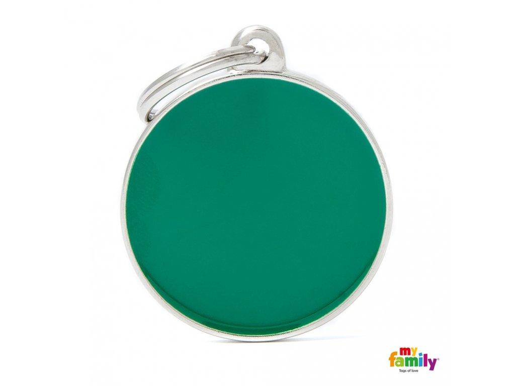 Známka Basic Hand made - kroužek zeleny
