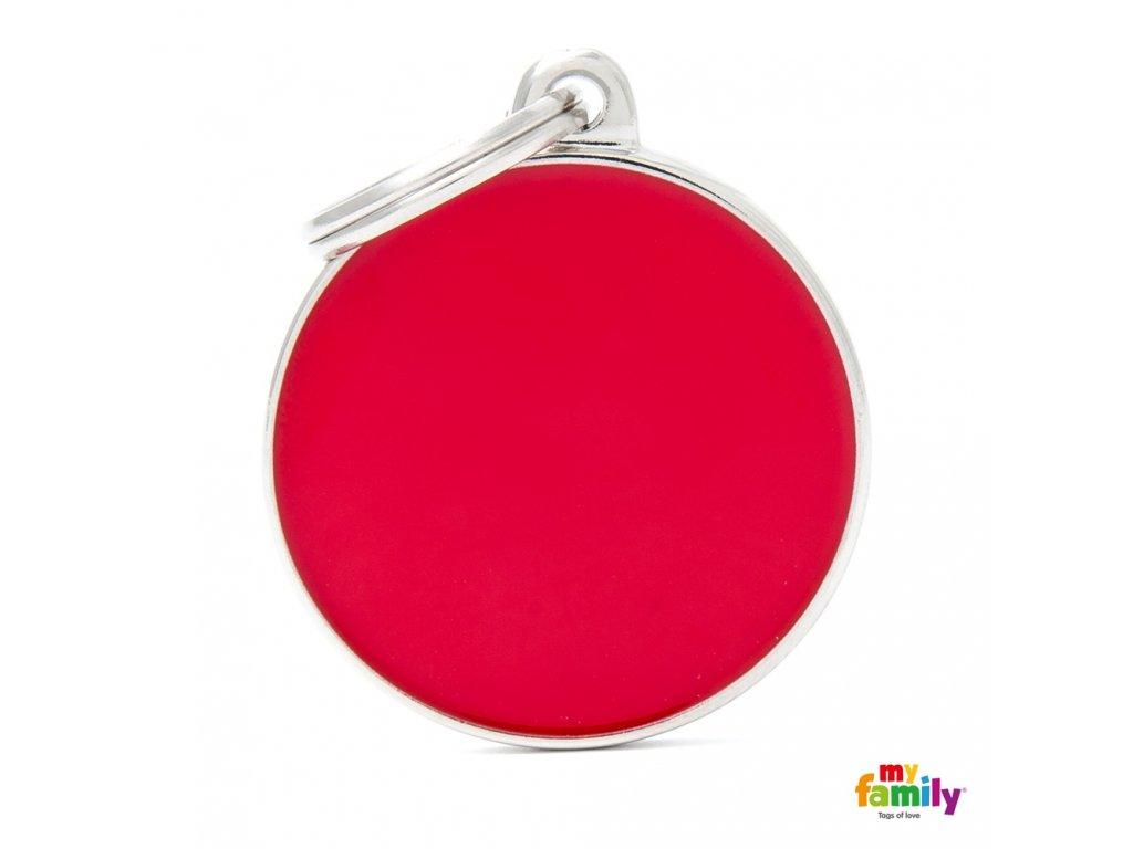 Známka Basic Hand made - kroužek červený
