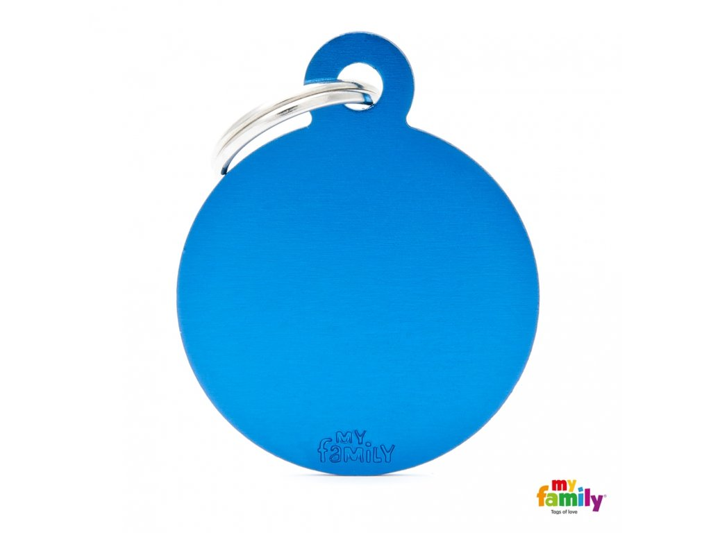 Známka Basic Allu kroužek velký modry