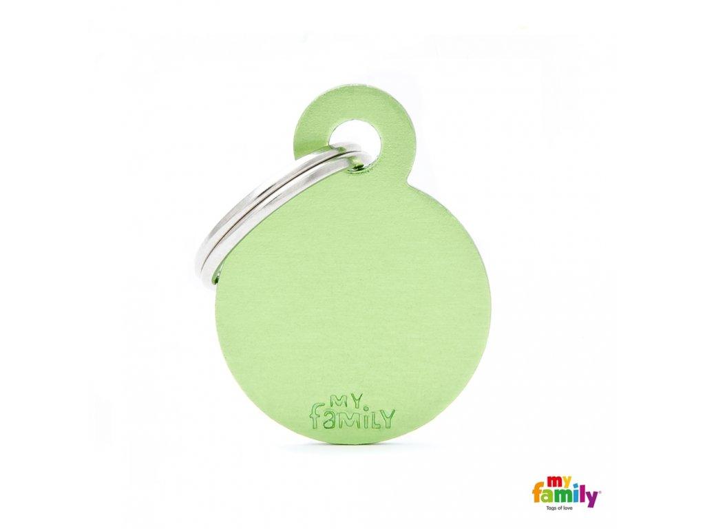 Známka Basic Allu kroužek malý zeleny