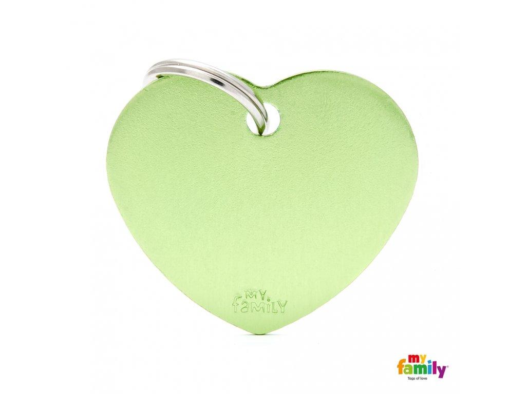 Známka Basic Allu srdíčko velke zelene