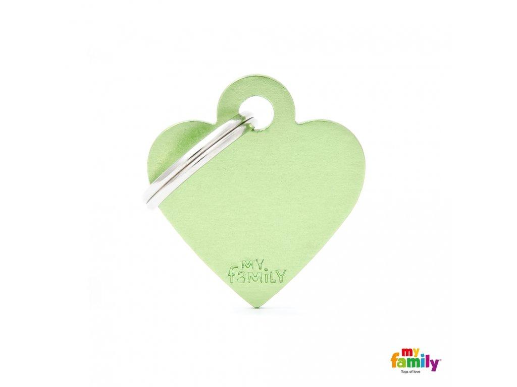Známka Basic Allu srdíčko male zelene
