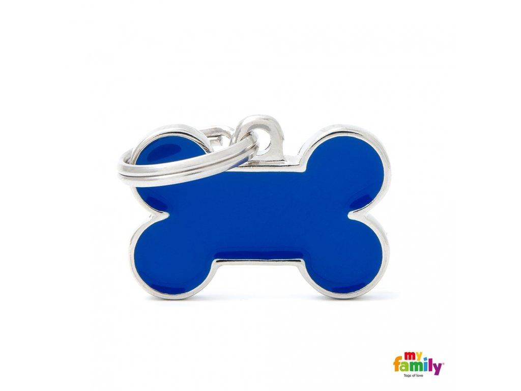 Známka Basic Handmade - kost malá modrá