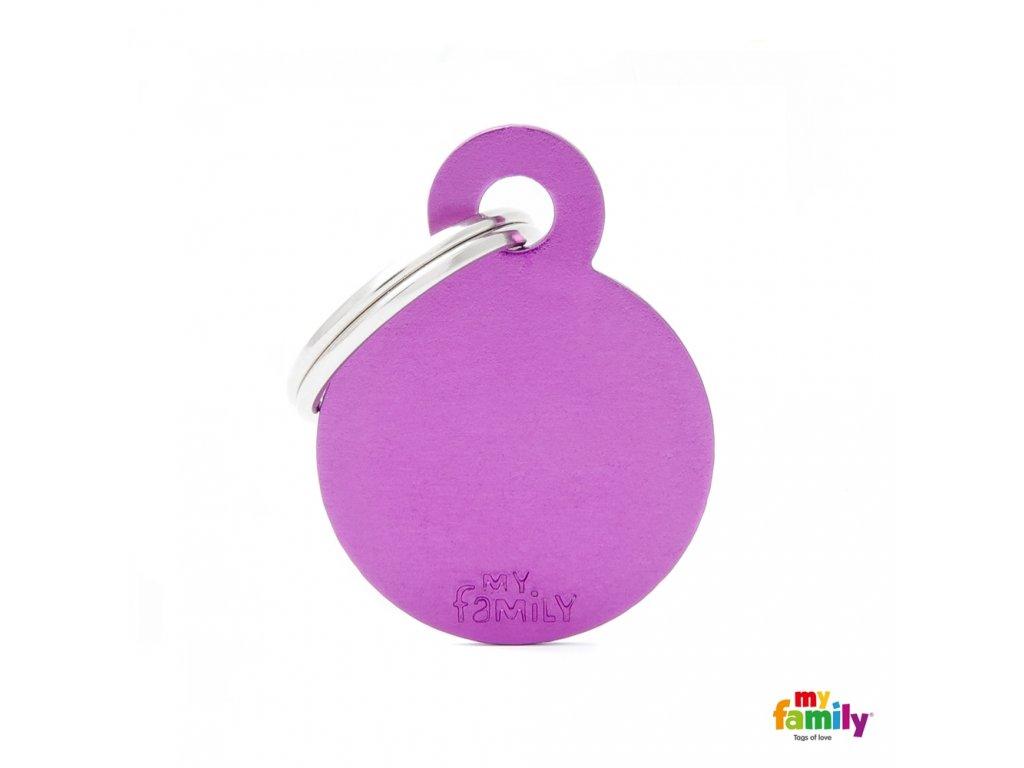 Známka Basic Alu - kroužek malý lila