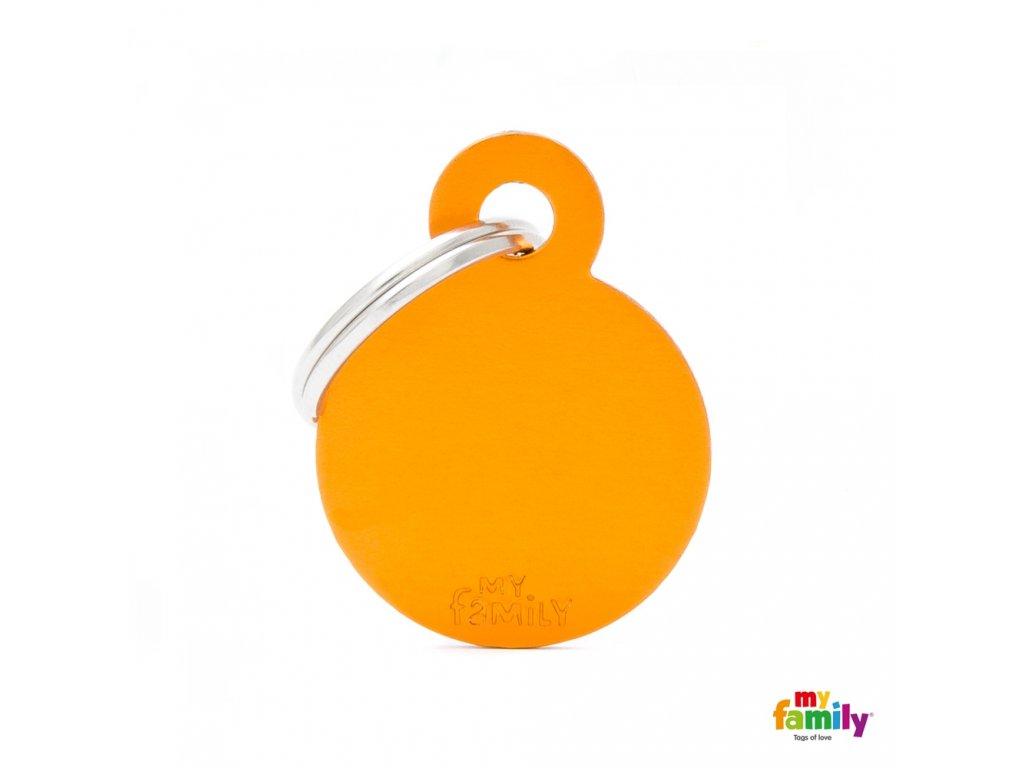 Známka Basic Alu - kroužek malý oranzovy
