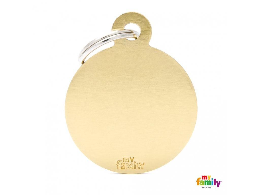 Známka Basic Alu - kroužek velký zlaty