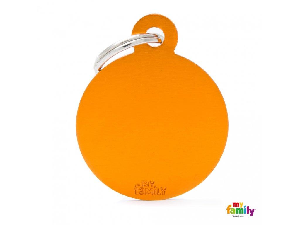 Známka Basic Alu - kroužek velký oranzovy
