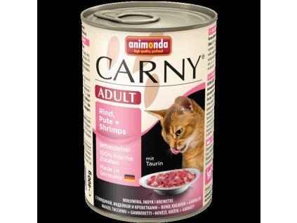 Animonda Carny konzerva pro kočky krůta+krevety 400g