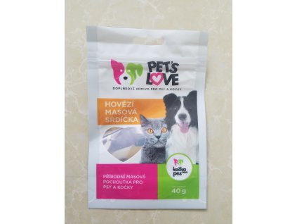 Dogs love Training Snack hovezi srdicko 40g