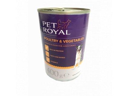 Pet Royal premium paté s drůbežím a zeleninou 400g (expirace: 13.3.2021)