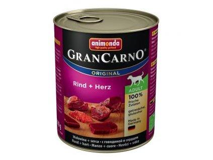 Animonda GranCarno Adult hovězí+srdce 800g