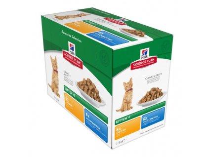 Kapsička Hill's Feline Kitten Favourite Selection 12x85g