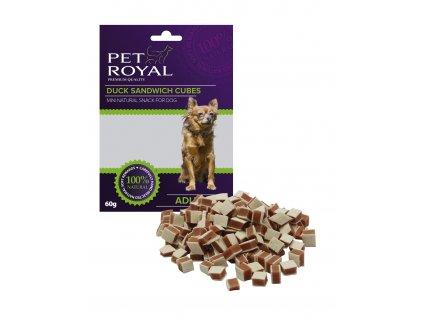 Pet Royal Dog Mini kachni sandwich kostky 60g (expirace: 23.2.2021)