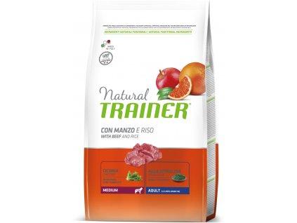 TRAINER Natural Medium Adult Hovezi a ryze 12kg