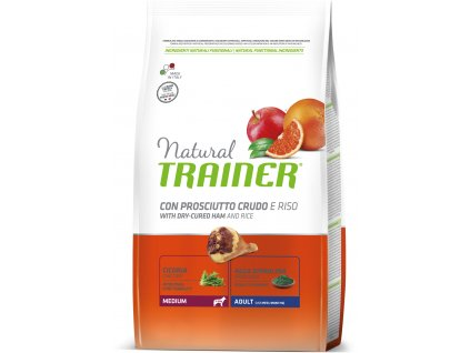 TRAINER Natural Medium Adult Prosciutto a ryze 12kg