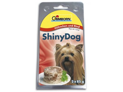 ShinyDog konzerva kuřecí+hovězí 2x85g