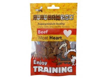 Huhubamboo Training Heart hovezi kousky 40g