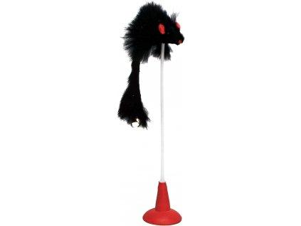 Hračka pro kočku - prut s přísavkou 20 cm