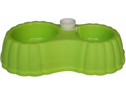 Plastová dvoumiska střední