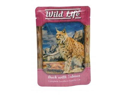 Kapsičky Wild Life Cat kachna+losos 80g