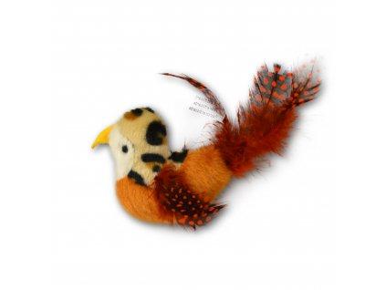 Hračka pro kočku - OurPets - Oranžový ptáček