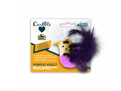 Hračka pro kočku - OurPets - Fialový ptáček