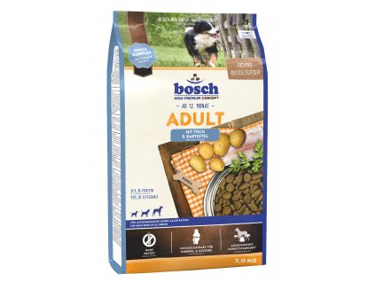 BOSCH HPC Adult Fish & Potato 3kg (expirace: 26.8.2020)