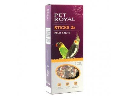 Pet Royal stick malý papoušek ovoce-ořech 2ks