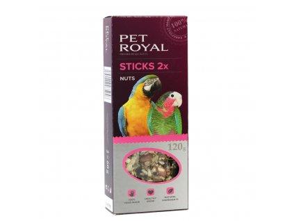 Pet Royal stick Velký papoušek ořech-kokos 2ks