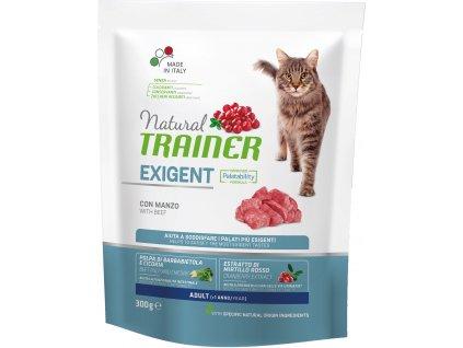 Trainer Natural Cat Exigent hovězí 300g