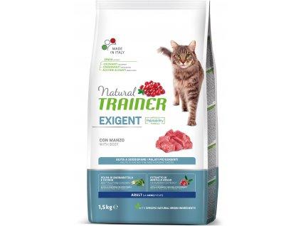 Trainer Natural Cat Exigent hovězí 1,5kg