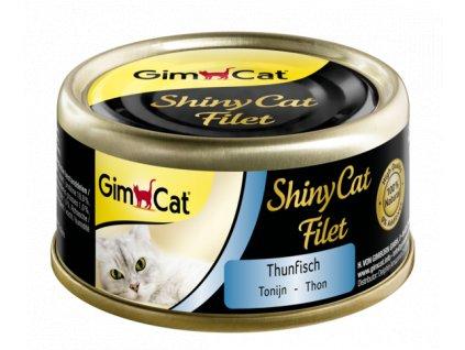 Shiny cat TUNA  FILLET ve vlastní šťávě 70 g