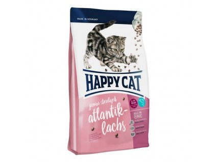 Happy cat Junior Sterilised Atlantik-Lachs 10kg