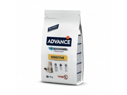 ADVANCE CAT Adult losos a rýže Sensitive 10kg