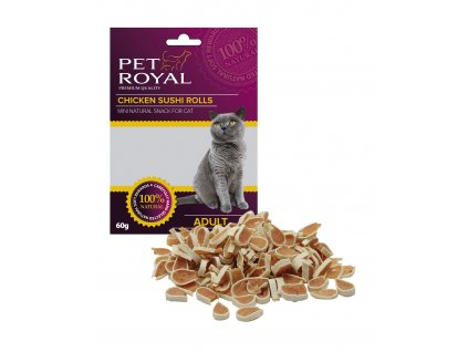Pet Royal Cat kuřecí Sushi 60g (expirace: 31.12.2021)