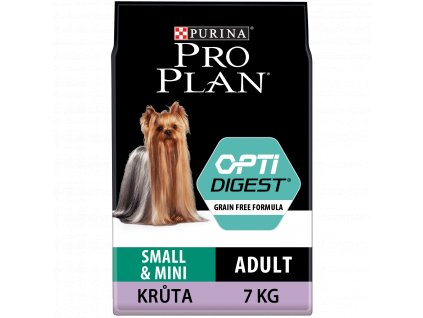 Purina Pro Plan small & mini adult OptiDigest Grain Free krůta 7 kg