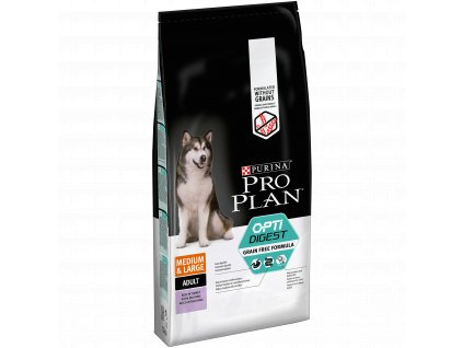 Purina Pro Plan medium & large adult OptiDigest Grain Free krůta 12 kg