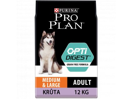 Purina Pro Plan medium & large adult OptiDigest Grain Free krůta 12 kg