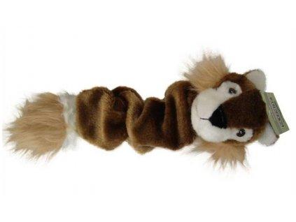 Hračka Plyšova pískaci veverka 35cm pro psy