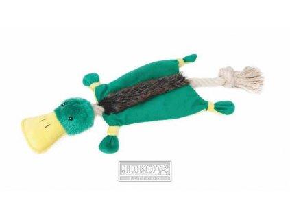 Hračka Kachna plyš/bavlna interaktiv 55cm pro psy