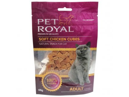 Pet Royal Cat Soft kuřecí kostky 60g