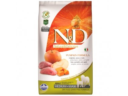 N&D Grain Free Pumpkin Adult Medium / Large Boar & Apple 12kg