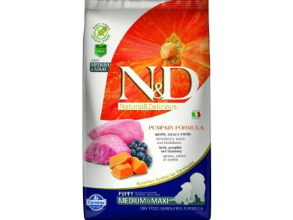 N&D Grain Free Pumpkin Puppy Medium / Large Lamb & Blueberry 12kg